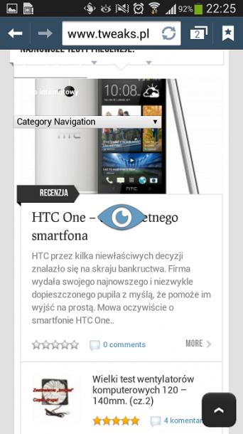 Galaxy S4 oczy