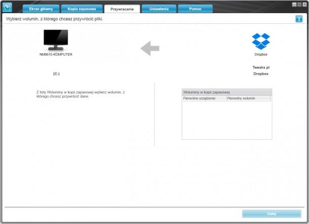 WD SmartWare przywracanie kopii zapasowej z chmury