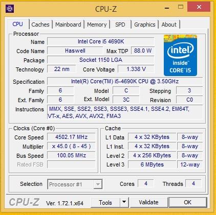 i5 4690k gigabyte z97x gaming 8