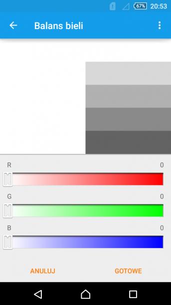 ekran kalibracja