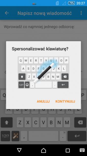 sony xperia m4 aqua personalizacja klawiatury
