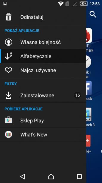 sony xperia m4 nakładka android 12