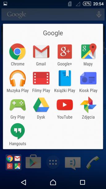 sony xperia m4 nakładka android 6