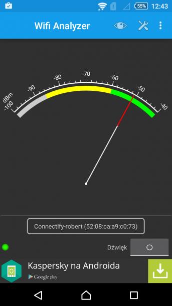 sony xperia m4 aqua test wifi - przy routerze