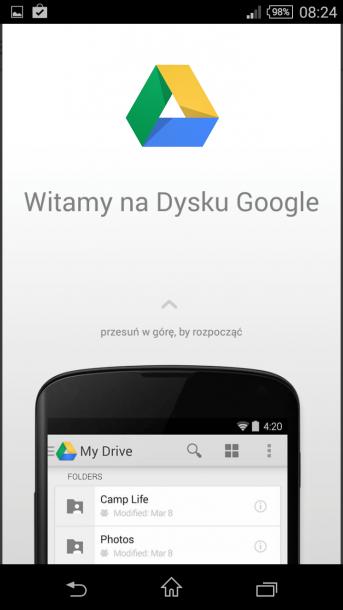 sony xperia z3 compact dysk google