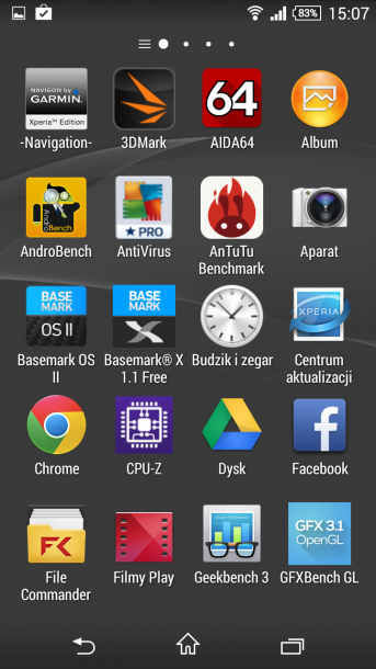 xperia z3 compact menu android 7