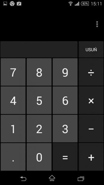 xperia z3 compact menu kalkulatora
