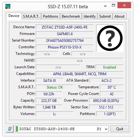 Zotac SSD Premium 240GB