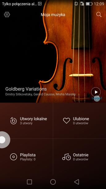 aplikacja moja muzyka - honor 5x