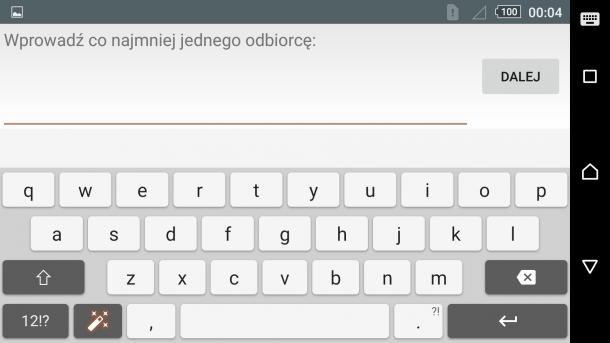 sony xperia z5 - klawiatura i pisanie sms (2)