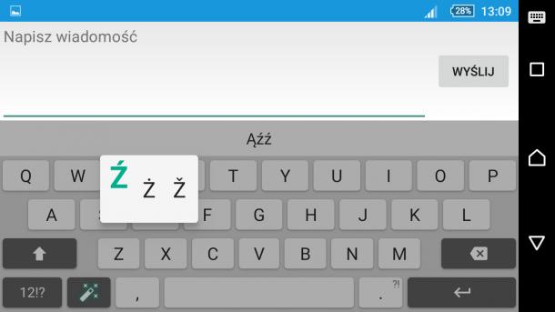 sony xperia z5 - klawiatura i pisanie sms (5)