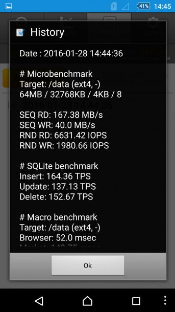 sony xperia m5 - androbench
