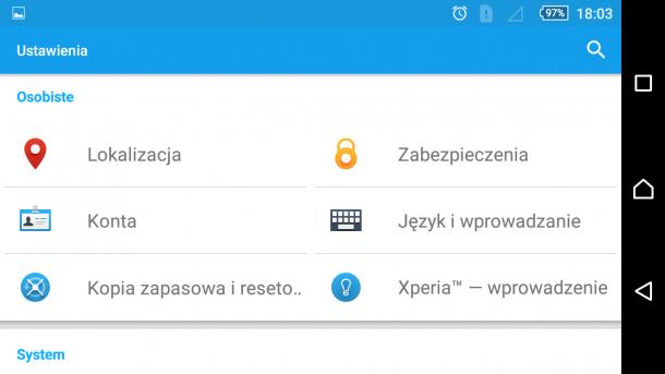 sony xperia m5 - android 5.1.1 nakładka sony (16)