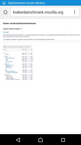 sony xperia m5 - kraken benchmark