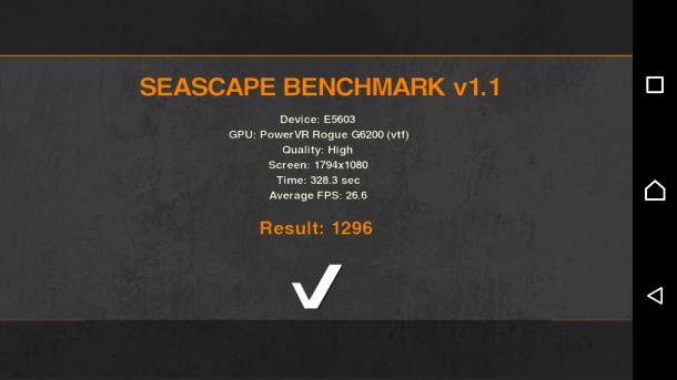 sony xperia m5 - seascape benchmark
