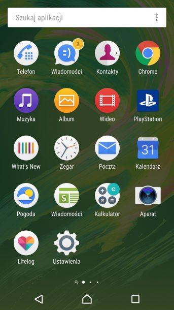sony xperia x performance nakładka android