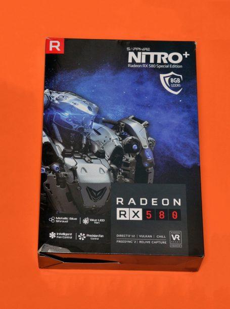 Sapphire RX580 Nitro+ 8GB Special Edition opakowanie