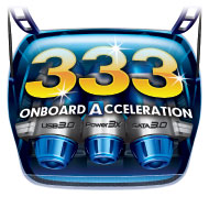 GIGABYTE 333 Onboard Acceleration