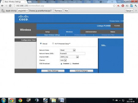 panel router Linksys PLWK400