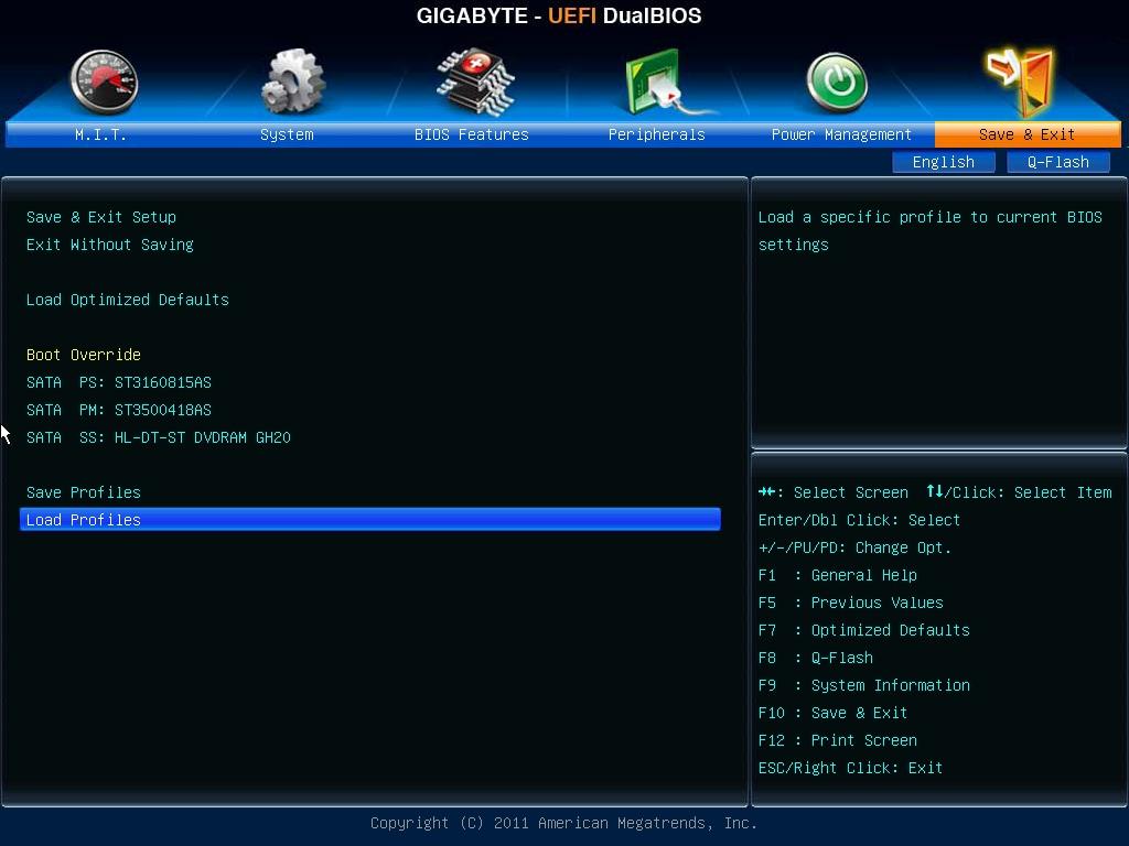 zapisanie zmian, Dual UEFI BIOS, Gigabyte B75M-D3V