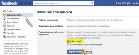 Facebook powiadomienia o logowaniu, powiadomienia Facebook, włamanie Facebook