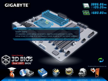 Gigabyte Z77X-UD5H-WB WIFI, BIOS UEFI, 3D BIOS