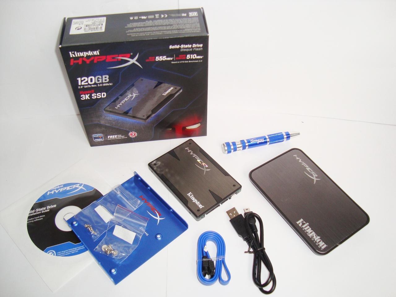 Kingston HyperX 3K SSD 120GB SATA III zawartość