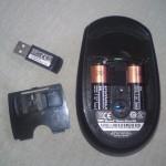 Miejsce na baterię oraz odbiornik Wireless Mouse 5000 Blue Track