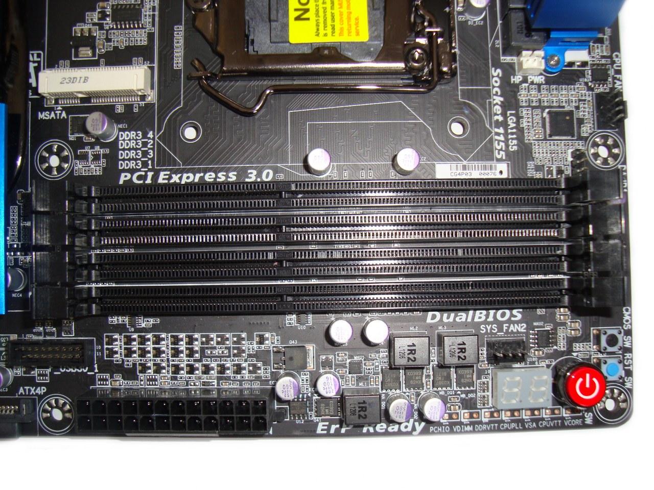 Gigabyte Z77X-UD5H-WB WIFI, szyny pamięci