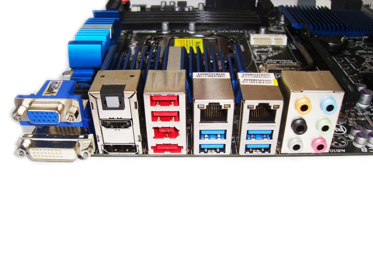 Gigabyte Z77X-UD5H-WB WIFI, złącza