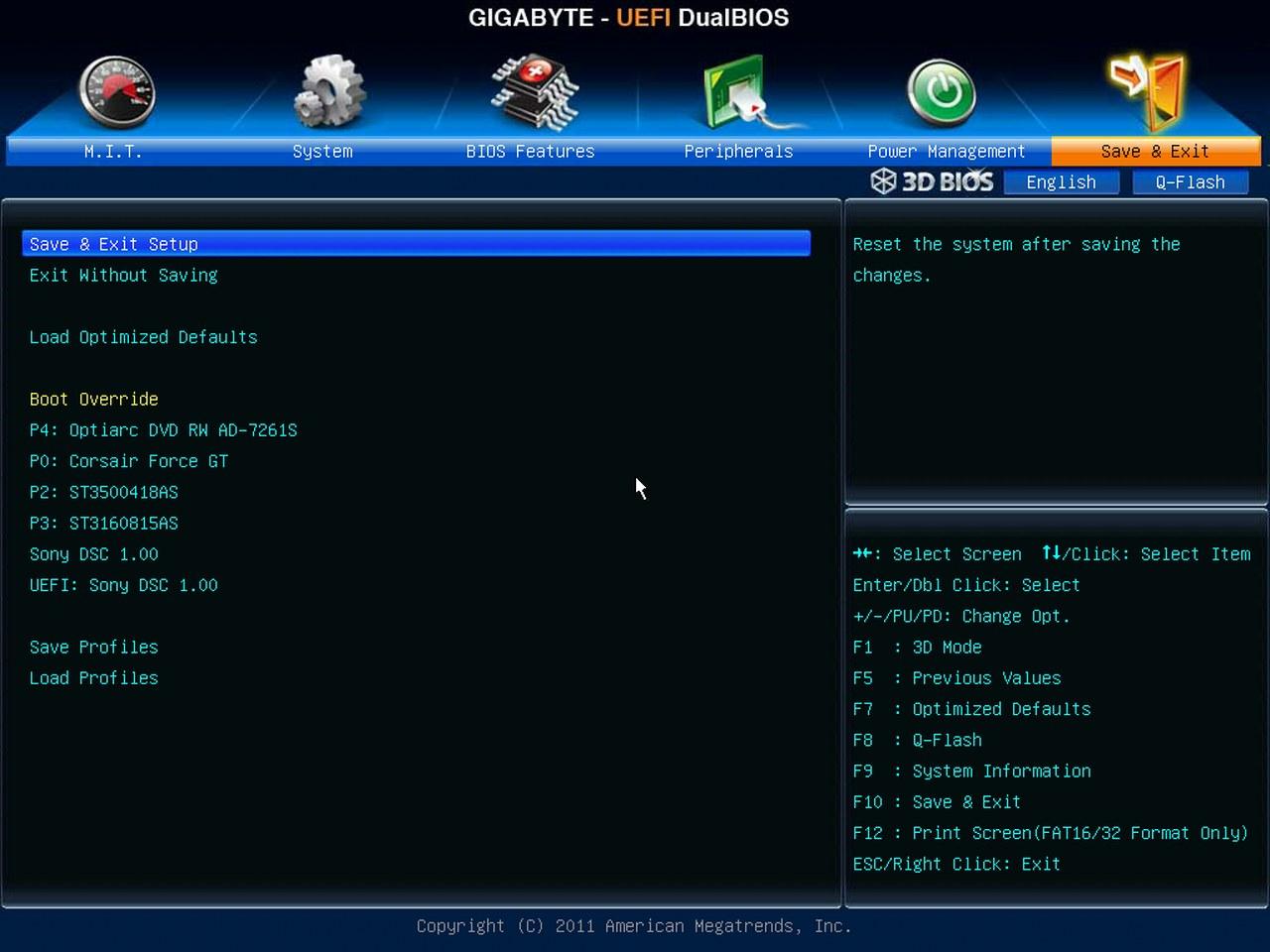 Gigabyte Z77X-UD5H-WB WIFI, BIOS UEFI,