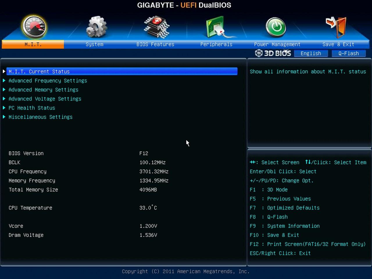Gigabyte Z77X-UD5H-WB WIFI, BIOS UEFI, M.I.T.