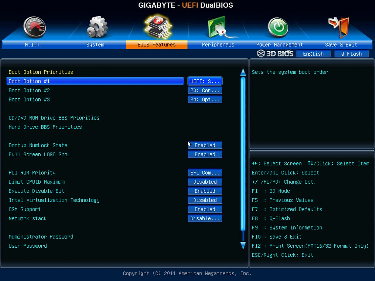 Gigabyte Z77X-UD5H-WB WIFI, BIOS UEFI, BIOS Features
