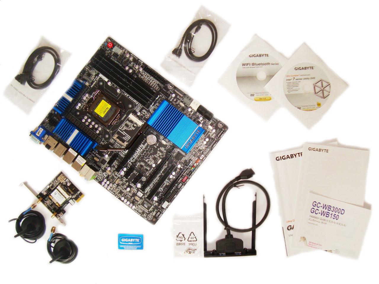Gigabyte Z77X-UD5H-WB WIFI akcesoria