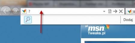 wyszukiwarka w Internet Explorer
