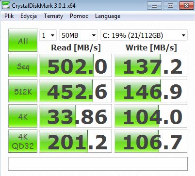 Test Gigabyte Z77X-UD5H-WB WIFI, Cristal Disk Mark 3
