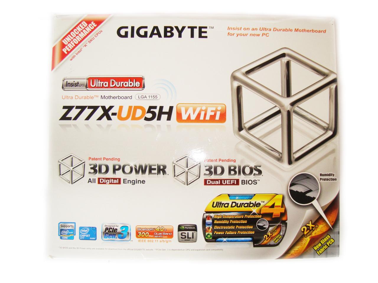 Gigabyte Z77X-UD5H-WB WIFI opakowanie