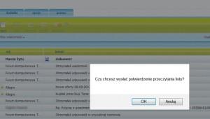 potwierdzenie przeczytania poczta WP.pl, potwierdzenie odbioru