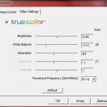 Ustawienie kolorów Microsoft LiveCam Cinema