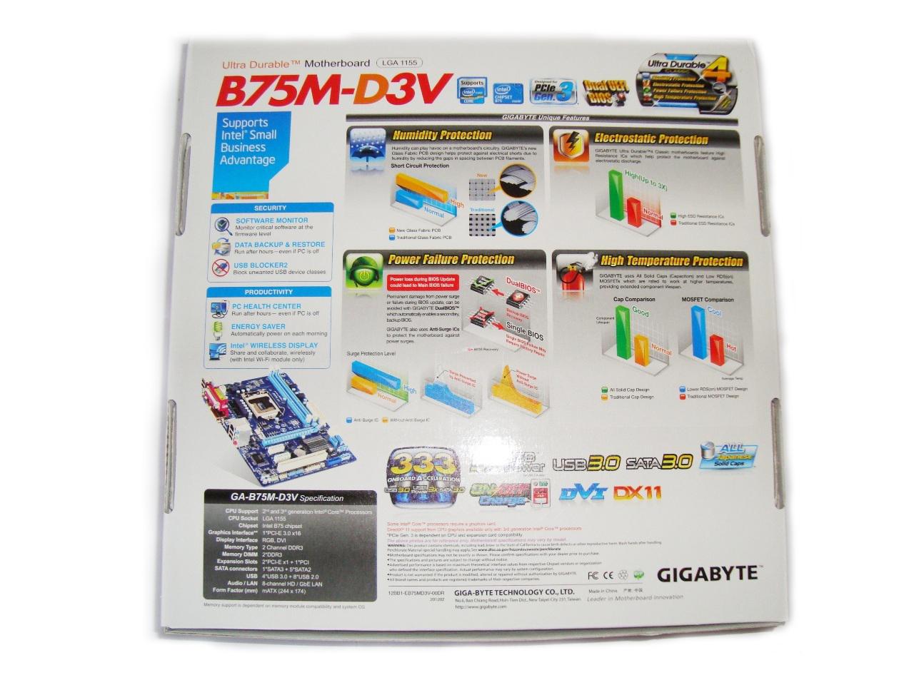 opakowanie Gigabyte B75M-D3V