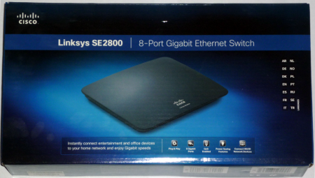 Linksys SE2800 switch pudełko