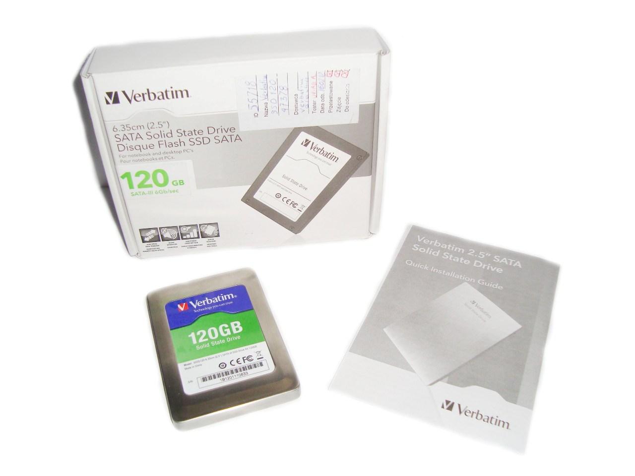 Verbatim 120GB SATA III zawartość