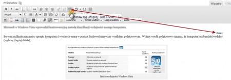 przycisk More, WordPress, edytor wizualny