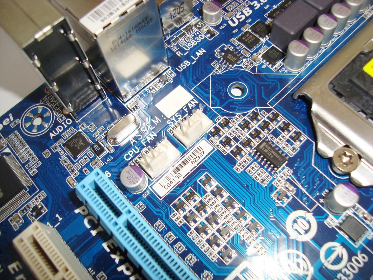 możliwość podłączenia dwóch wentylatorów, Gigabyte B75M-D3V