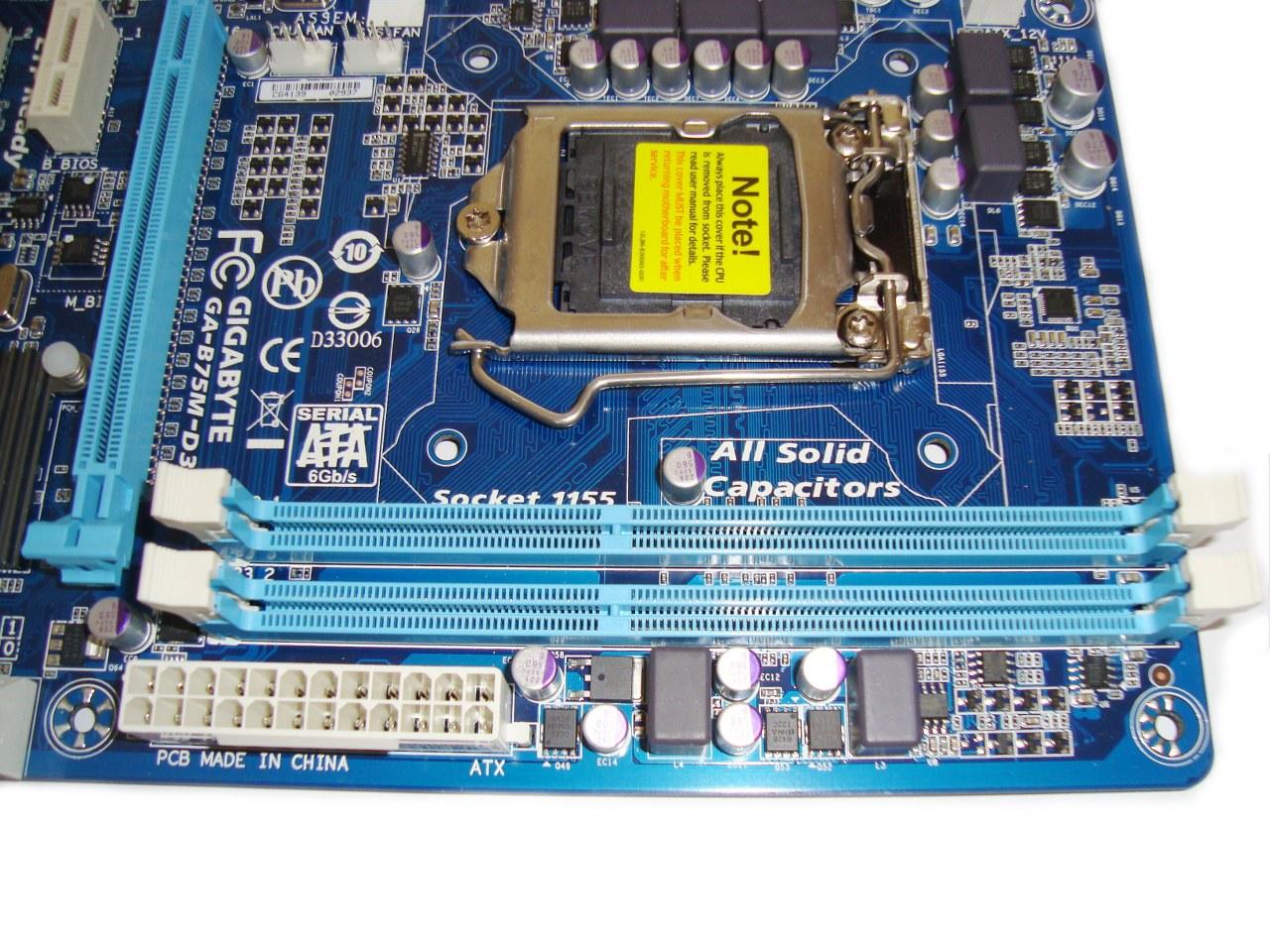 tylko dwa sloty na RAM, Gigabyte B75M-D3V