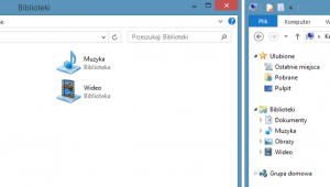 eksplorator Windows widok bibliotek i dysków