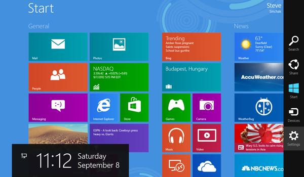 menu kafelkowe Windows 8