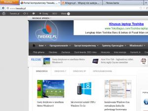 zakładki Firefox
